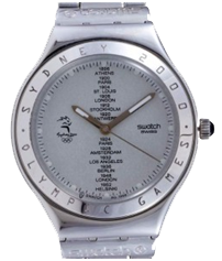 Swatch YGS-114 White Dial Olympic Spirit Watch Men